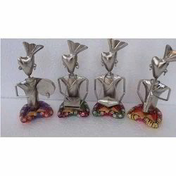 Multicolor Metal Tribal Statues