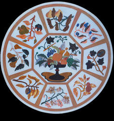 Marble Inlay Table Tops In Udaipur मार्बल इनले टेबल टॉप