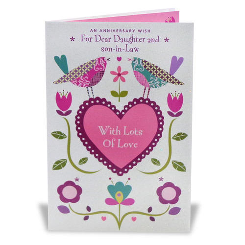 Daughter Amp Son In Law Anniversary Card Amp Friend Birthday