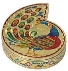 Peacock Designed Decorative Box