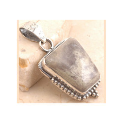 Traditional Silver Leaf Pendant
