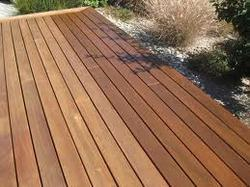 Patio wooden flooring
