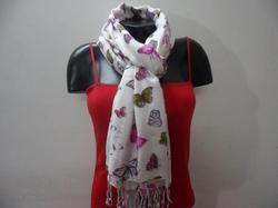 Viscose Screen Print Butterfly Scarf