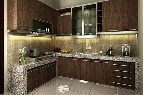 L Shape Modular Kitchen, Modular Kitchen- Bangalore | Kudlu Road ...