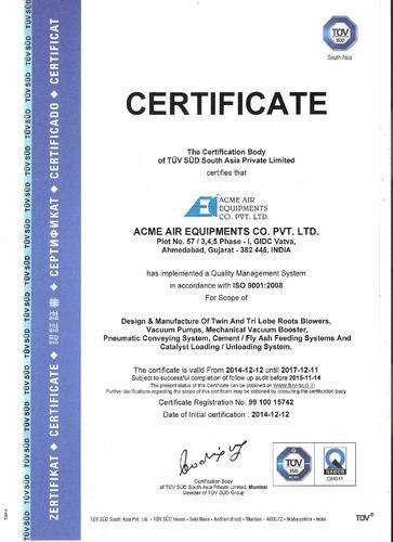Acme Air Equipments Co  Private Limited - Manufacturer from GIDC