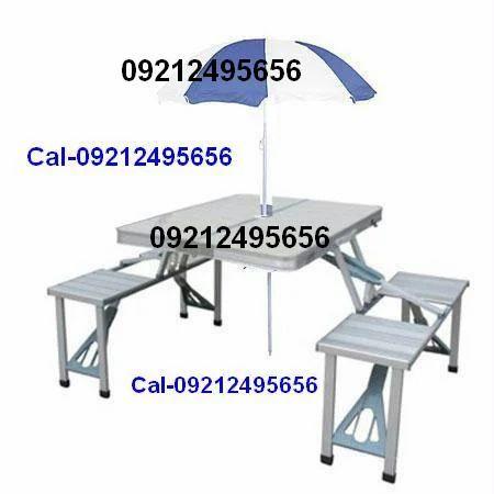 Aluminium portable folding picnic table chairs set with umbrella picnic tables aluminum picnic table with umbrella service watchthetrailerfo