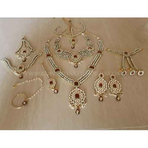 Complete Bridal Jewelry Set22k Gold Plated Bridal Jewellery at Rs
