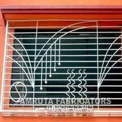 Fabricated grill nath powder coating fabrication for Balcony grills enclosure designs in india