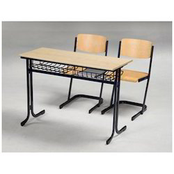 Wooden Dual Desk