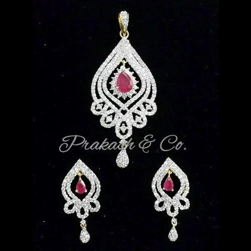 b828ddb11 American Diamond Designer Pendants Sets - American Diamond Fancy Pendants  Sets Manufacturer from Mumbai