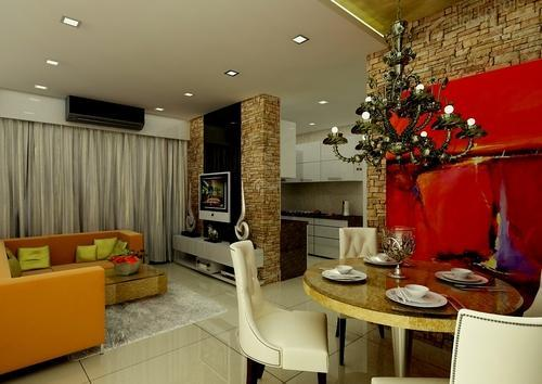 Modern Living Room Interior Design in Kandivali West, Mumbai, Art N ...