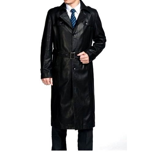 3e46b89f7a4 Men  s Leather Trench Coat