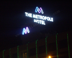 Hotel Roof Top Sign Board