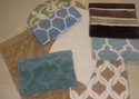 Cotton Viscose Designer Bath Mats