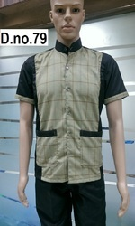 Black With Checks Resturant Uniform Stock Ready new, Size: Medium