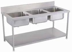 Three Sink Wash Unit