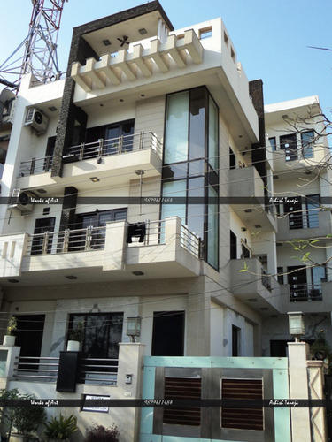 Beautiful Residential Exterior Services   Residential Flat Exterior Designing Service  Consultants From Delhi
