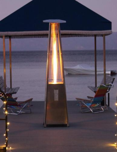 Gentil Glass Tube Dancing Flame Patio Heaters