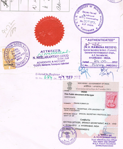 Single Status Certificate Attestation Services in A G B Trust ...