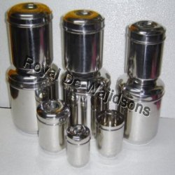 stainless steel round box in many sizes
