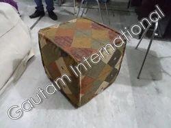 Handmade Square Kantha Pouf