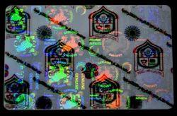 ID Card Hologram Overlays