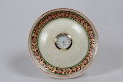 Marble Round Plate With Watch