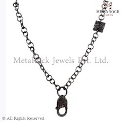 Party Wear Silver Chain Claps Necklace
