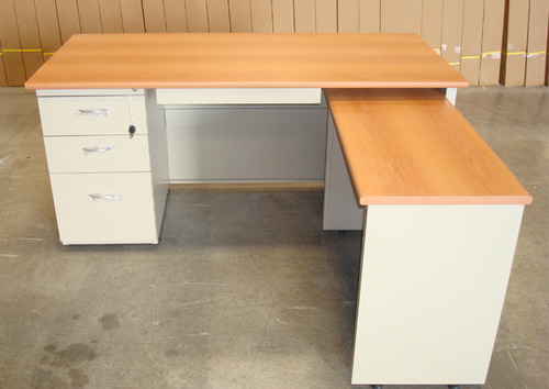 L shape office table Desk Hardik Steel Industries Office Tables Executive Table Manufacturer From Ahmedabad