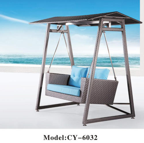 Metal Stainless Steel Grey Two Seater Cane Swing