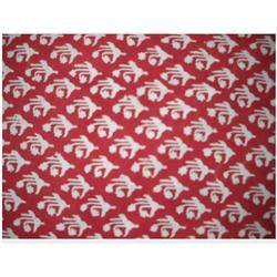 Red Cotton Printed Fabric