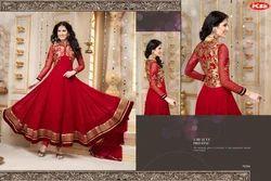 Georgette Semi-Stitched Designer Anarkali Suits