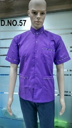 Violet Colour Restaurant Uniform