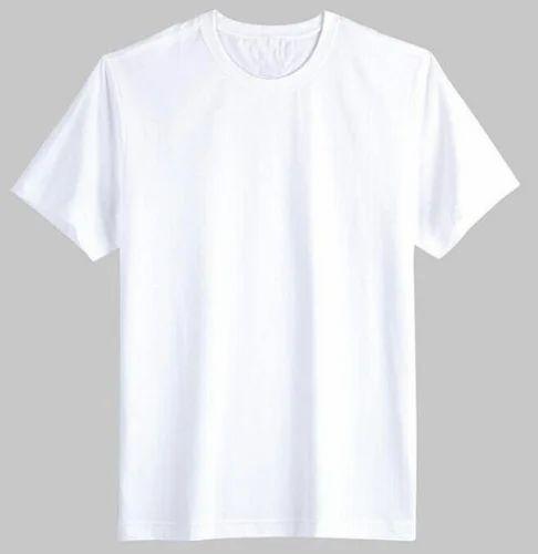 Men's Plain White Color T Shirt - HighFly Exim, Tiruppur | ID ...