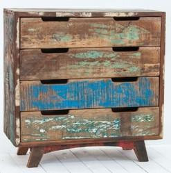 Vintage Reclaimed Wood Drawer Chest Drawer