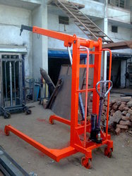 rotated hydraulic floor crane