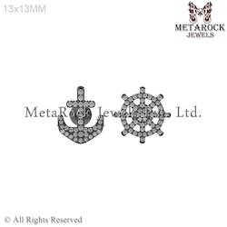 925 Silver Diamond Earrings