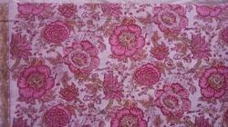 Flower Block Print Fabric
