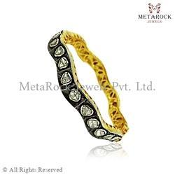 Designer Handmade Polki Rose Cut Diamond Bangle