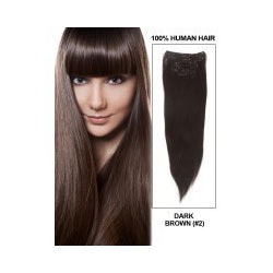 Dark Brown Clip In Hair Extension, for Parlour