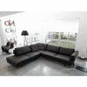 Modern Black Fabric Living Sofa Set