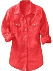 Womens Casual Linen Shirts