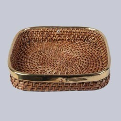 Square Willow Wicker Tray