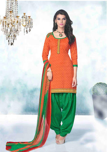 0cd4f03df4 Designer Patiala Suit In Orange Color at Rs 650 /piece | Siddhi Park ...