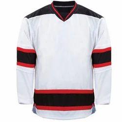 White and Black Hockey Jersey