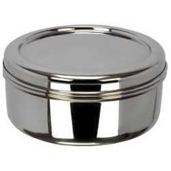 Plain Silver SS Puri Dabba, Packaging Type: Box
