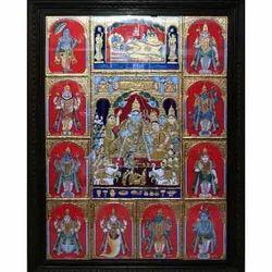 Ramar Pattabhishekam with Dasavatharam Painting