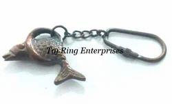 Antique Fish Key Ring