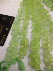 Green Chalcedony Cut  Drops