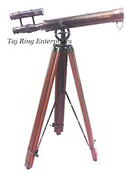 Antique Telescope with Stand